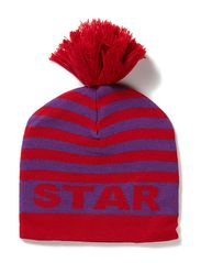 Knit Beanie Purple - Purple / Red