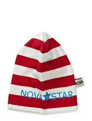 Striped Beanie Fire - RED/WHITE