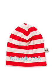 Striped Beanie Red - RED/WHITE