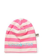 Striped Beanie Pink - PINK/WHITE