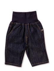 Buckle Denim Shorts - BLUE