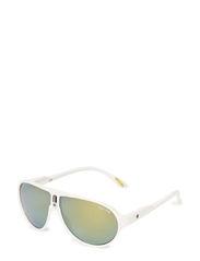 Buzz White Oil Sunglasses UV 400 - WHITE