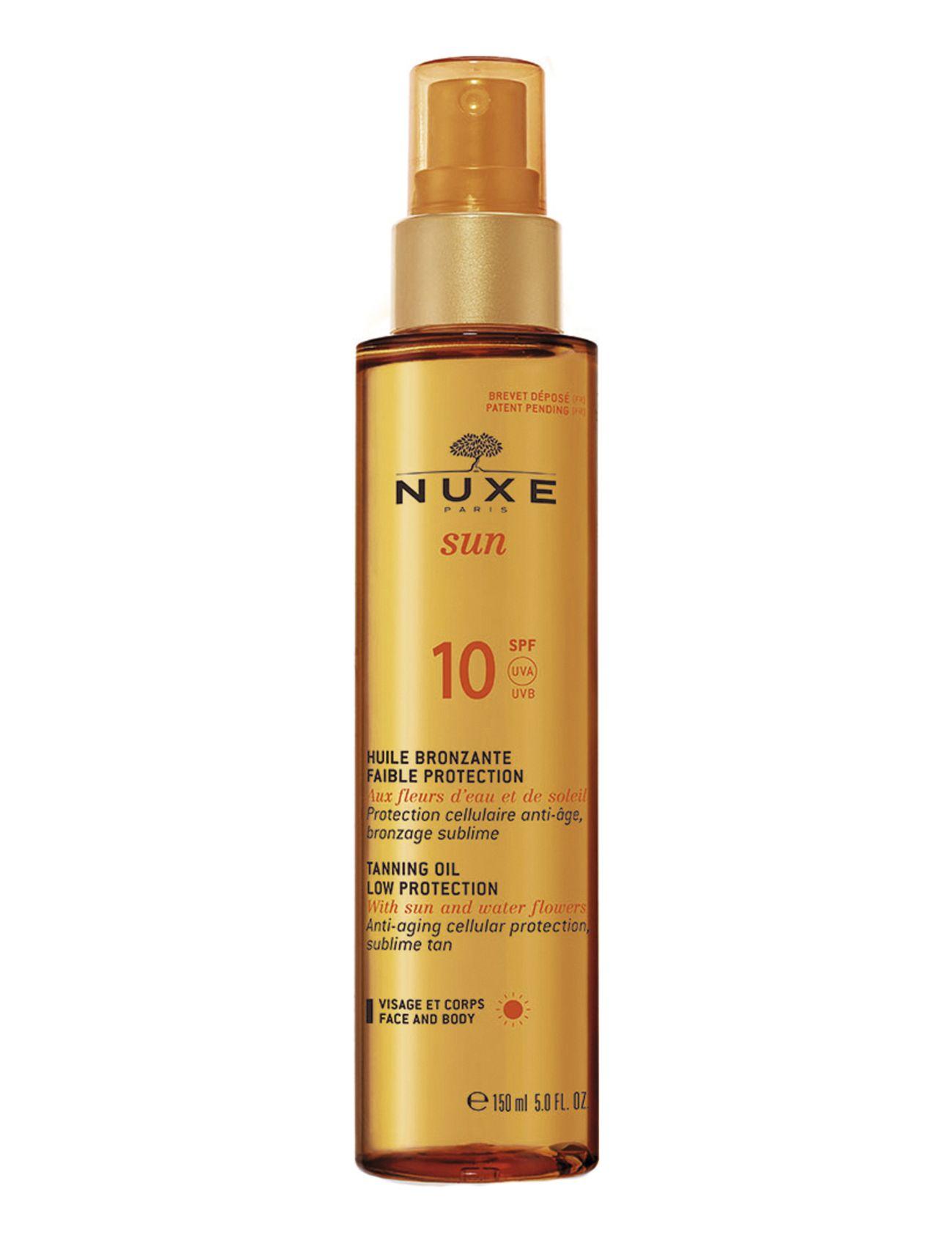 nuxe Tanning oil face & body spf10 på boozt.com dk