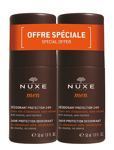 NUXE MEN 24H DEODORANT DUOPACK 2X50 ML - CLEAR