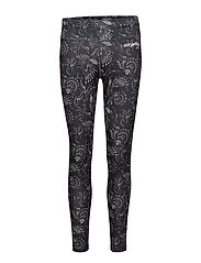sweat it leggings - BLACK MULTI