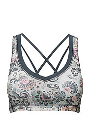 shakedown sport bra - LIGHT PORCELAIN