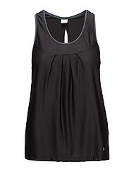 sweat it solid tank top - ALMOST BLACK SOLID