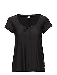 sweat it solid top - ALMOST BLACK SOLID