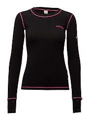 love base layer l/s top - BLACK