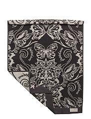 daybreak butterfly hand towel - ASPHALT