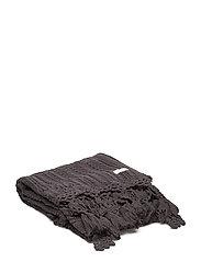 cozy throw - BLACK LAVA