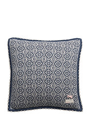 lovely knit cushion cover - DEEP BLUE