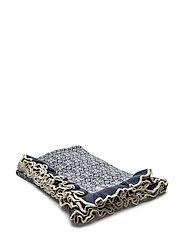 lovely knit blanket - DARK BLUE