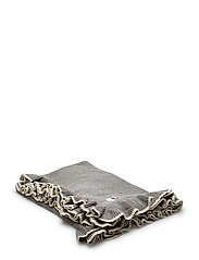 solid lovely knit blanket - GREY MELANGE