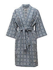 cozy bathrobe - DENIM BLUE