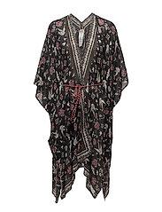 sunbath kimono - ALMOST BLACK