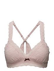lace oddity bra - MILKY PINK