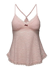 lace oddity tank top - MILKY PINK