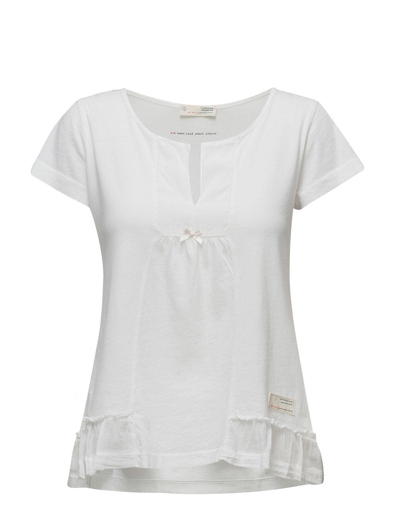 Home-Land S/S Blouse ODD MOLLY Kortærmede til Damer i Bright White
