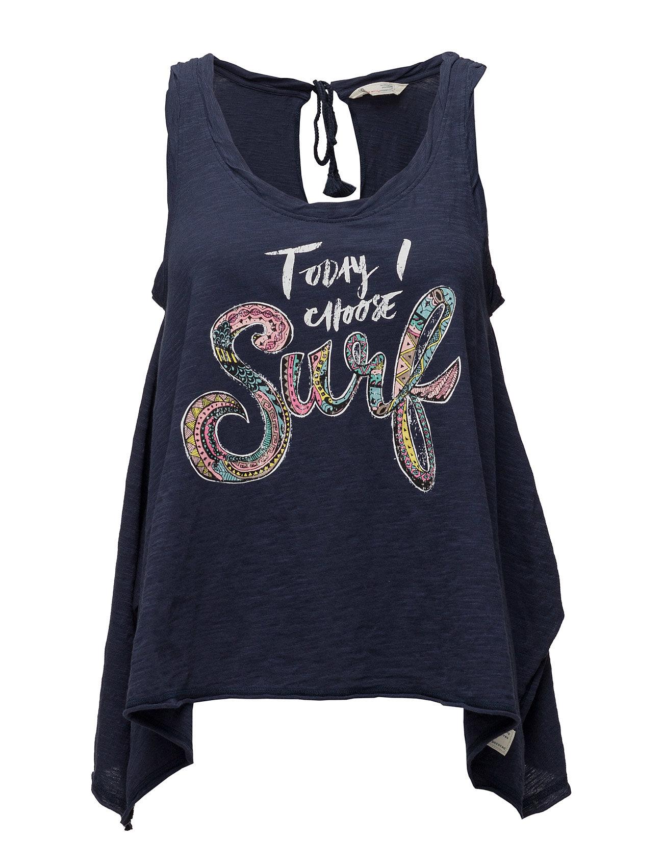Summer Vibes Tank Top ODD MOLLY T-shirts & toppe til Kvinder i Mørkeblå