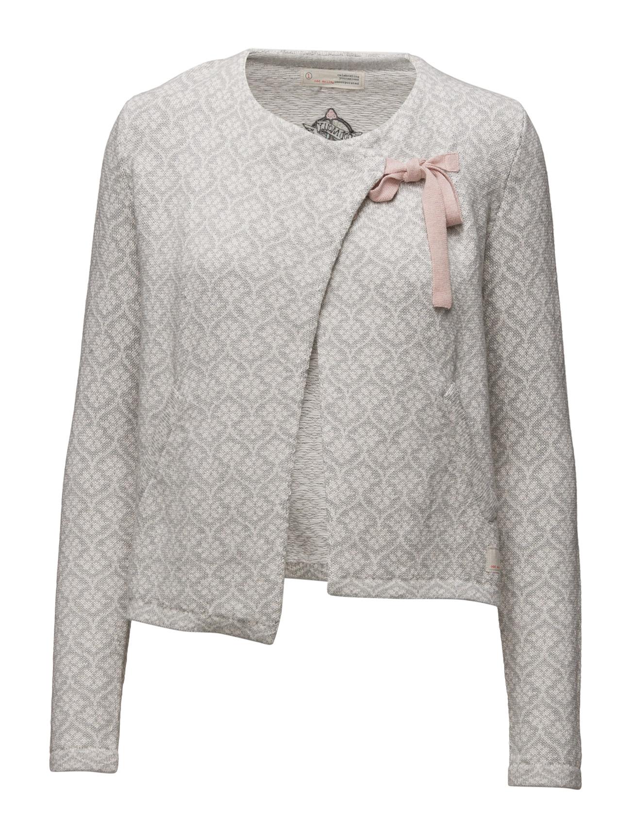 Knitted Wings Cardigan ODD MOLLY Cardigans til Damer i Light Grey Melange