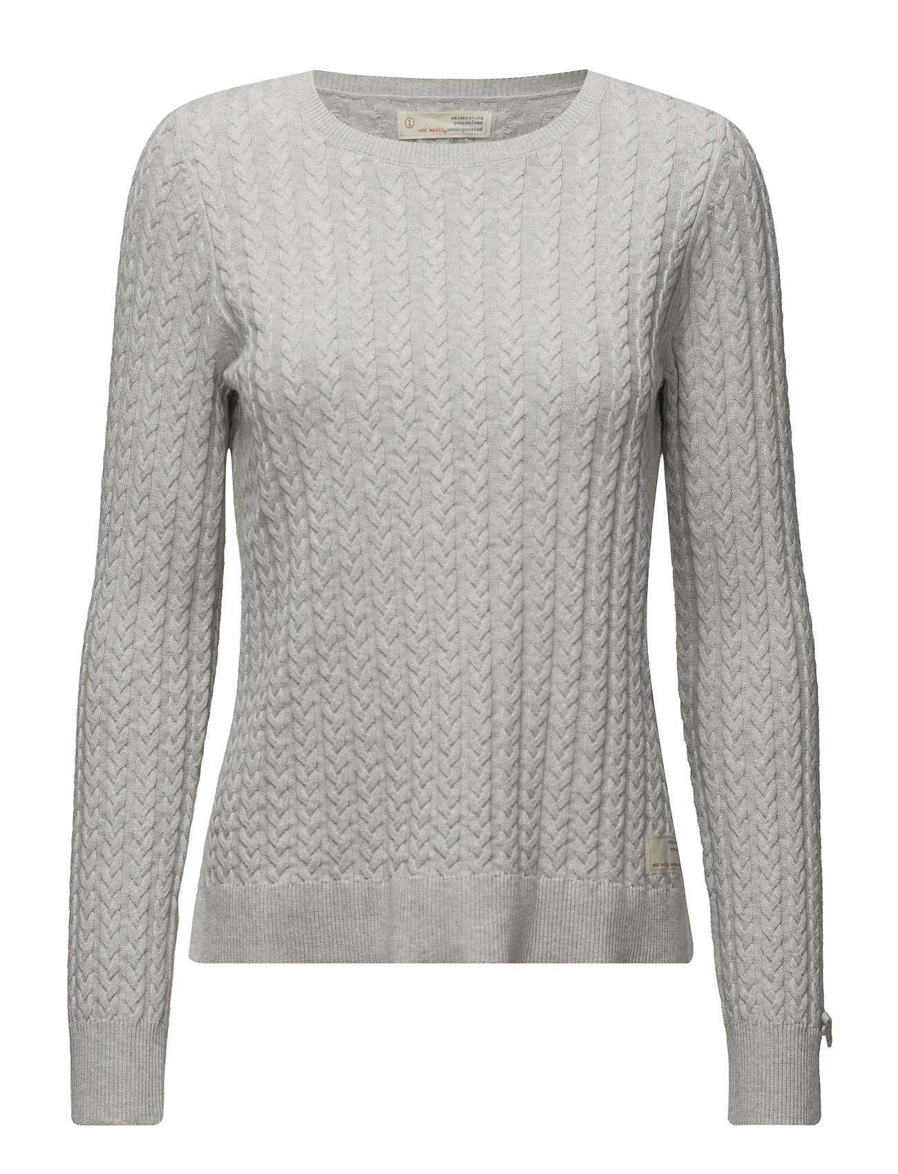 Ribbey Sweater ODD MOLLY Sweatshirts til Damer i Light Grey Melange