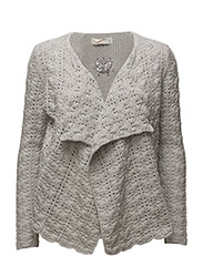 canal cardigan - LIGHT GREY MELANGE