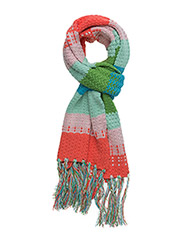 mixed knit scarf - MULTI