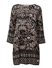 odyssey short dress - DARK MULTI