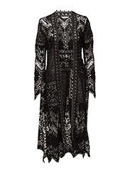golden long jacket - ALMOST BLACK