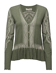 shepherd cardigan - MID GREEN