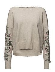 whirley sweater - CHALK