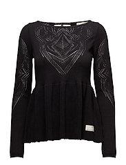 sunday drive sweater - ALMOST BLACK