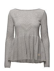 sunday drive sweater - LIGHT GREY MELANGE