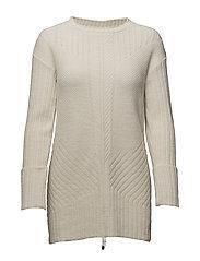 retreat long sweater - LIGHT CHALK