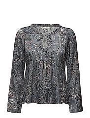 triumph l/s blouse - MISTY BLUE