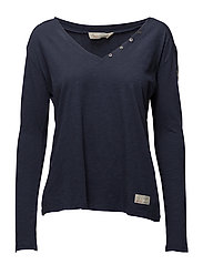 suddenly l/s top - DARK BLUE