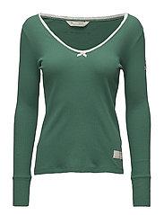 rib jersey l/s top - GREEN