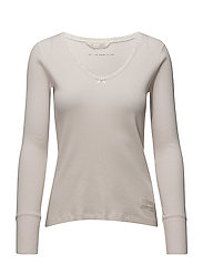 rib jersey l/s top - SOFT ROSE