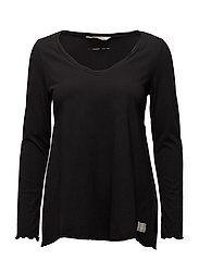 trashin´ l/s top - ALMOST BLACK