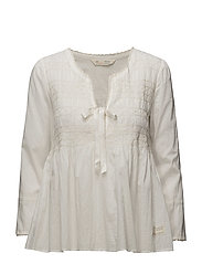 remix blouse - LIGHT CHALK