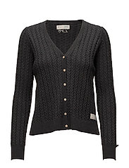 ribbey cardigan - ALMOST BLACK