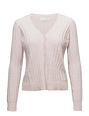 ribbey cardigan - LIGHT ROSE