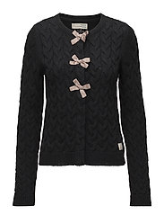 canal cardigan - ALMOST BLACK