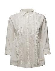 revival blouse - LIGHT CHALK