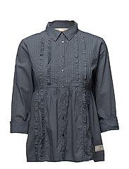 revival blouse - MISTY BLUE