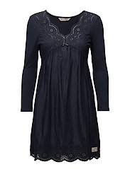 blossom dress - DARK BLUE