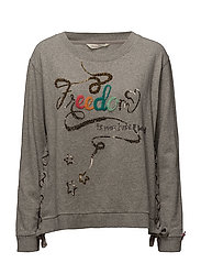 freeway sweater - LIGHT GREY MELANGE