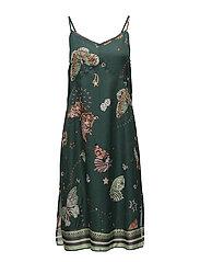 dearly slip dress - MAGIC GREEN
