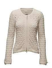 harmony knitted jacket - CHALK